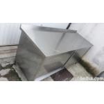 Inox delovni pult z drsnimi vrati